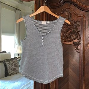 Anthropologie Striped Tank Top XS